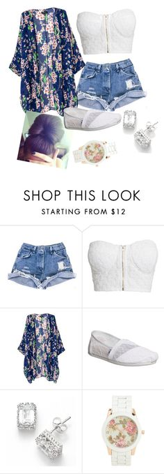 """Summer"" by pianims ❤ liked on Polyvore featuring moda, NLY Trend, TOMS y Aéropostale"
