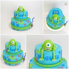 Disney Pixar Monsters Inc Mike Wazowski Cake