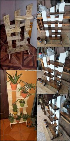 Fantastic Looking DIY Wooden Pallet Creations – Wooden Pallet Ideas - Holz Design Cool Wood Projects, Wooden Pallet Projects, Wooden Pallets, Wooden Diy, Plastic Pallets, Pallet Wood, Diy Projects Using Pallets, Pallet Diy Decor, Pallet Benches