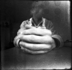 ... pinhole portrait #.winterwald. - I love how the focus is on the hands, everything else is faded.