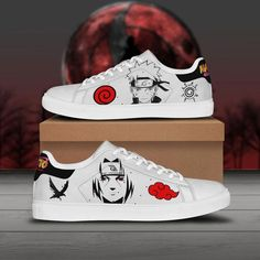 Naruto Shoes, Naruto Clothing, Stan Smith Shoes, Painted Sneakers, Custom Shoes, Custom Sneakers, Shoes Sneakers, Kid N Teenagers, Best Gifts For Him