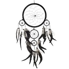 "Dream Catcher ~ Handmade Traditional Black, White & Silver 8"" Diameter 20"" Long! CaughtDreams,http://www.amazon.com/dp/B00HVLJ95I/ref=cm_sw_r_pi_dp_YS5-sb0VNCH1SVFR"