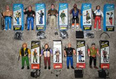 A-TEAM complete MINT set of 9 figures GALOOB Hannibal B.A. Murdock Face Mr. T #Galoob