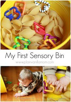 Alphabet Soup: A My First Sensory Bins Post - Plain Vanilla Mom