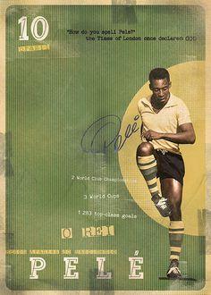 The Gods Of Football (Part I) by Marija Marković on Behance — Pelé (Edson Arantes do Nascimento), Brazil