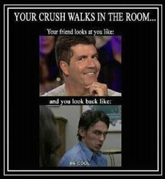 #TooFunnyForWords Click the pic for more! Your crush walks in the room Simon Cowell lol valentines day be cool!