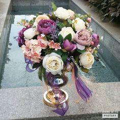 Malay Wedding, Glass Vase, Floral Wreath, Wreaths, Weddings, Flowers, Instagram, Flower Crown, Bodas