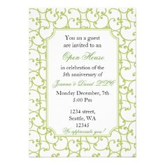 Open House New Business Personalized Invitation Open House