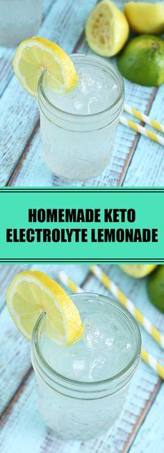 me: Homemade Keto Electrolyte Lemonade Water Recipes, Drink Recipes, Homemade Electrolyte Drink, Keto Electrolytes, Hydrating Drinks, Burnt Sugar, Keto Flu, Keto Recipes, Keto Desserts