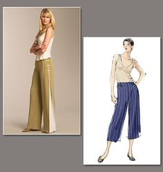 Vogue 1050 Misses' Pants - I love the look, but I don't know that i would ever actually sew the outfit!
