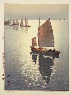 Calm Wind Beautiful Wood Block Prints by Hiroshi Yoshida I.D. 36