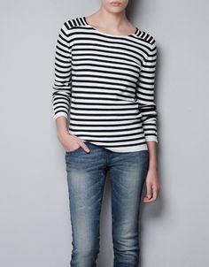 STRIPED JUMPER - Knitwear - TRF - ZARA United Kingdom