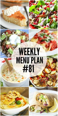Start your new year off right with these delicious Weekly Menu Plan recipes! via @realhousemoms
