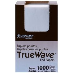 SP-56175 GRAHAM BEAUTY TRUE WAVE END PAPERS - SUPER JUMBO 1000 SHEETS  Exactly what you need to ensure the best result when rolling hair. Absorbent end papers with great wet strength.