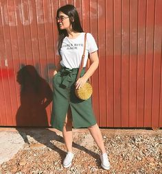 Pin by on ملابس in 2019 Long Skirt Outfits, Basic Outfits, Modest Outfits, Modest Fashion, Trendy Outfits, Summer Outfits, Cute Outfits, Fashion Outfits, Modest Wear