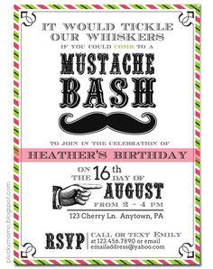 plucky momo: Mustache Party Invite