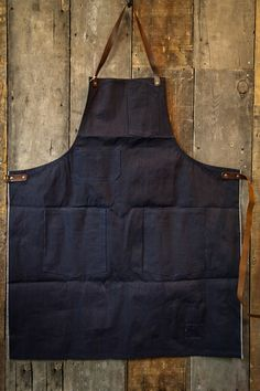 Stanley & Sons Apron with Leather Straps Selvage Cone Mills Denim