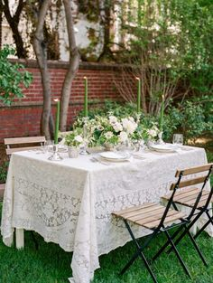 White and Green Tabletop | photography by http://www.michelehartphotography.com