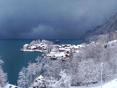 Iseltwald Switzerland <3 with all the snow