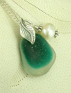 Genuine Santa Cruz Sea Glass Necklace Rare by seaglassgems4you, $85.00