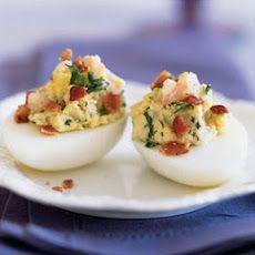 Shrimp and Bacon Deviled Eggs