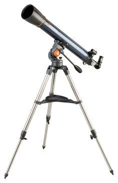 Celestron - AstroMaster Refractor Telescope - Refractor Telescope for Beginners - Fully-Coated Glass Optics - Adjustable-Height Tripod - BONUS Astronomy Software Package