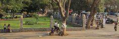 City Hall grounds and curio market. Bulawayo, Zimbabwe.