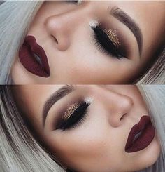 In love with her make up.