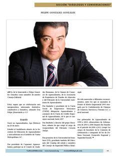 Revista 400 le da la bienvenida a Felipe González González como integrante al Consejo Editorial #Aguascalientes #Revista400  http://issuu.com/400revista/docs/revista_400_diciembre_2014/19
