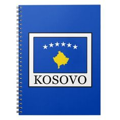 Shop Kosovo Notebook created by KellyMagovern. Kosovo Flag, Political Events, National Flag, Activity Games, Paper Napkins, Flags, Notebook, Gifts, Favors