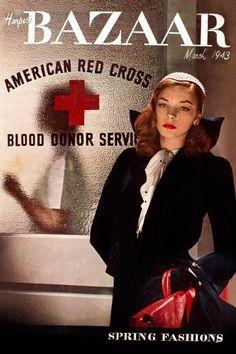 Lauren Bacall iconic actress' wartime cover for Harper's Bazaar