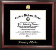 University of Toledo Rockets Home Office Diploma Picture Frame