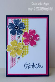 Washi tape flower shop thank you - Stampin' Up!