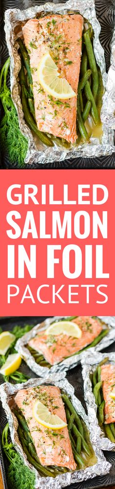 Grilled Salmon In Foil -- this simple salmon in foil recipe is packed with lemony garlic butter flavor! Adding green beans to the packet means you have have protein and a side dish on the table in under 30 minutes… | salmon in foil packets | easy salmon in foil | garlic butter salmon in foil | salmon in foil with green beans | find the recipe on unsophisticook.com #salmon #fish #grilled #lent #easyrecipe #unsophisticook (ad) #AskForAlaska #IC @alaskaseafood
