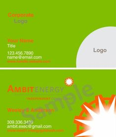 Ambit energy business cards 351000 full color doublesided free ambit business cards 351000 full color double sided free shipping wajeb Image collections
