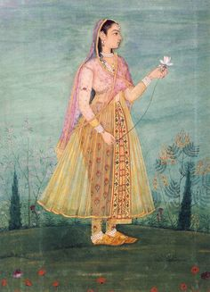 lady holding a lotus