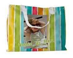 La borsa mare colorata e vivace personalizzata con foto e grafica