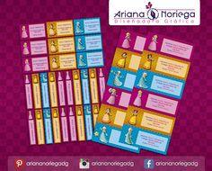 Kit Imprimible de #etiquetas personalizadas con el motivo #Princesss #Peach, #Daisy y #Rosalina.   3 tamaños: 9 x 3,5 cm, 5 x 1 cm y 5 x 3 cm.     Personalized and printable #labels pack - #PrincessPeach, #Daisy and #Rosalina.    3 sizes: 9 x 3,5 cm, 5 x 1 cm and 5 x 3 cm.     Tienda/Shop: https://www.etsy.com/es/shop/ArianaDesignStore