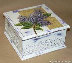 .caja con decoupage