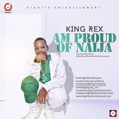"""MUSIC  VIDEO : King Rex  AM PROUD OF NAIJA   Here is another kid set to take over the music industry with an inspirational song titled """"Am proud of Naija"""" his name is King Rex!. KING REX born in Lagos on the 19th of September 2003 to the family of Tanko Sabo Lengaya hails from Wukari LGA of Taraba State Nigeria. He attended Hey Day Nursery and primary school Festac Lagos Navy Secondary school Akpabiu Calabar and presently he is in Excel Secondary school Wukari . He also attended Music…"""