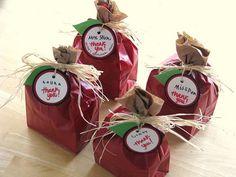 brown bag apple gift sacks
