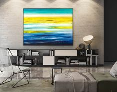 Abstract Canvas Art - Large Painting on Canvas, Contemporary Wall Art, Original Oversize Painting Large Abstract Wall Art, Blue Abstract Painting, Large Canvas Art, Painting Art, Large Painting, Abstract Paintings, Painting Gallery, Painting Flowers, Oil Canvas