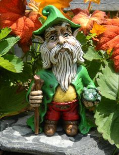 Gnome - a unique style of gnome.  Like the bright color and curled hat tip.