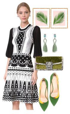 """dress"" by masayuki4499 ❤ liked on Polyvore featuring Temperley London, Dries Van Noten, Oscar de la Renta and Charlotte Olympia"