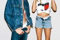 A new generation of throwback #TommyJeans style is BACK. with #HaileBaldwin and #LuckyBlue