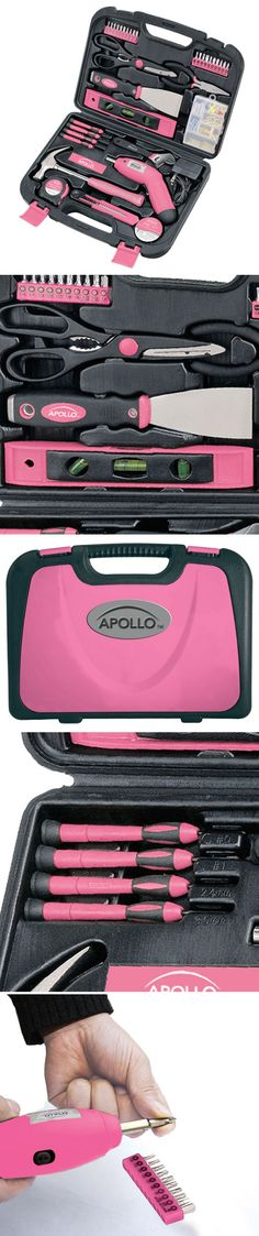 Pink Household Tool Kit Set