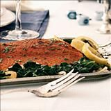 Salmon is popular fare on various Jewish holidays. The spice rub lends an earthy, exotic taste.