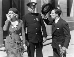 Buster Keaton, Anita Page and a confused copper In Sidewalks Of New York (1931)