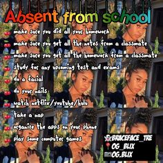 What to do when absent from school Middle School Hacks, High School Hacks, Life Hacks For School, School Study Tips, School Life, School Routine For Teens, School Routines, Pasta Alternative, Absent From School