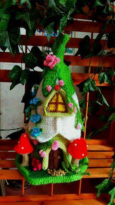Casa de Gnome o ganchillo hecho a mano fantasía hadas OOAK
